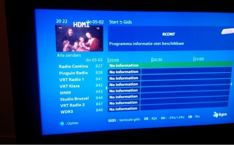 KPN plaatst nieuwe firmware in tv-decoders