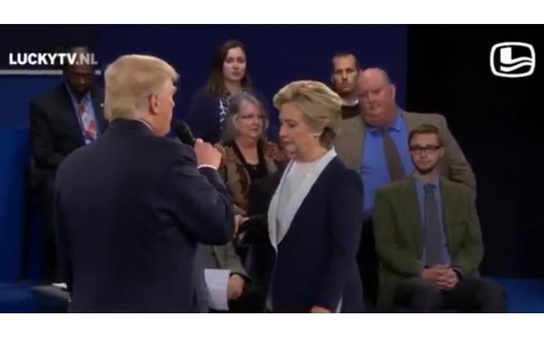 Wereldwijde hit Lucky TV met Trump en Clinton