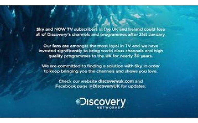 Sky dreigt alle kanalen van Discovery op zwart te zetten