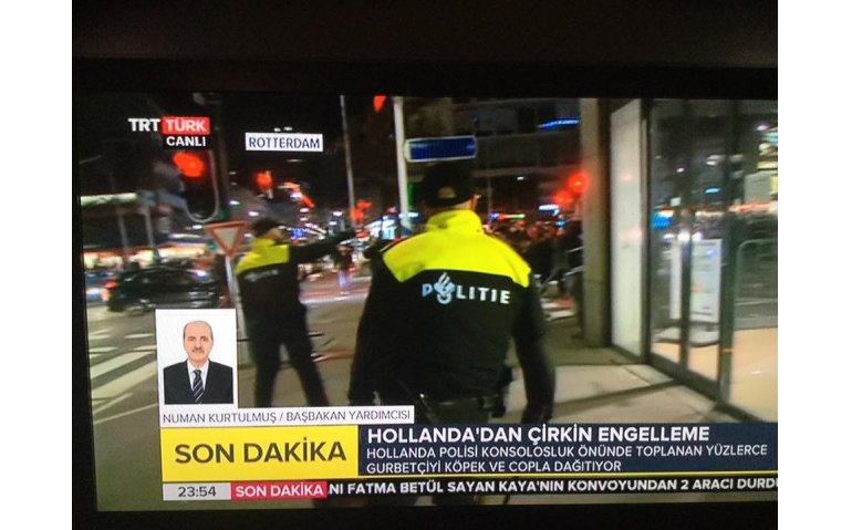 Alleen Turkse omroepen doen live verslag van situatie in Rotterdam
