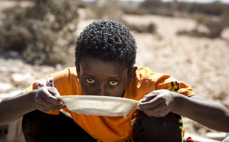 Giro 555-actie op tv en radio voor hongersnood in Afrika