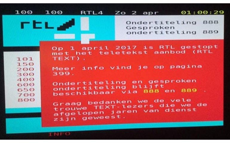 Stoppen RTL Teletekst geen 1 april-grap