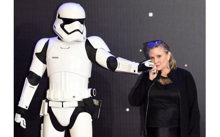Carrie Fisher in achtste en negende deel Star Wars