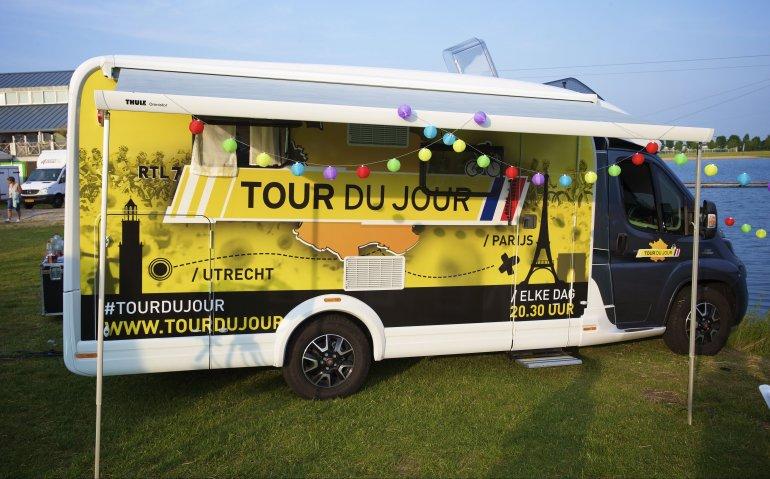 Dagelijkse prime time Tour de France wielrenstrijd NPO en RTL