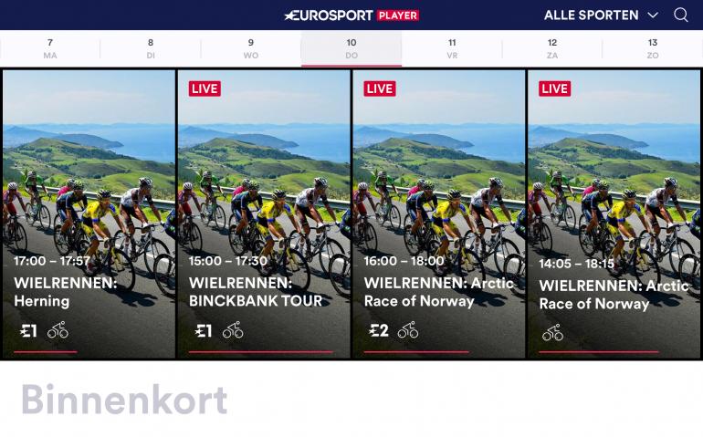 Eurosport bezig met verbeteren Eurosport Player
