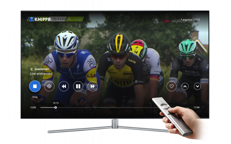KNIPPR direct via Samsung Smart TV de huiskamer in