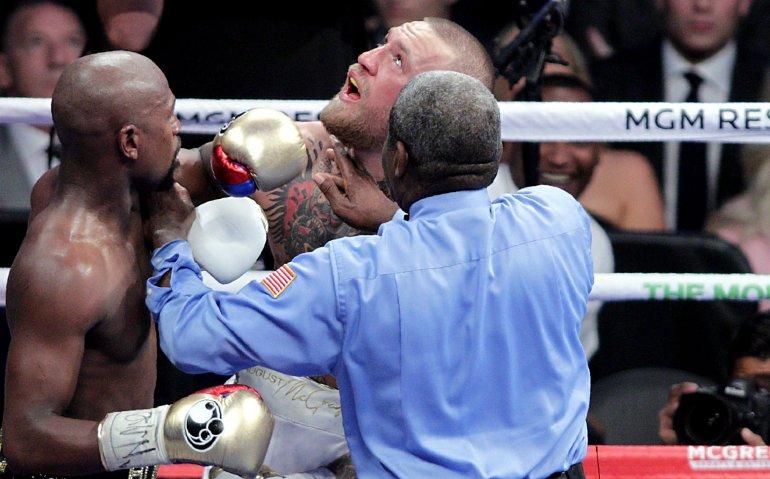 Watermerkbeveiliging in strijd illegaal kijken gevecht Mayweather vs McGregor