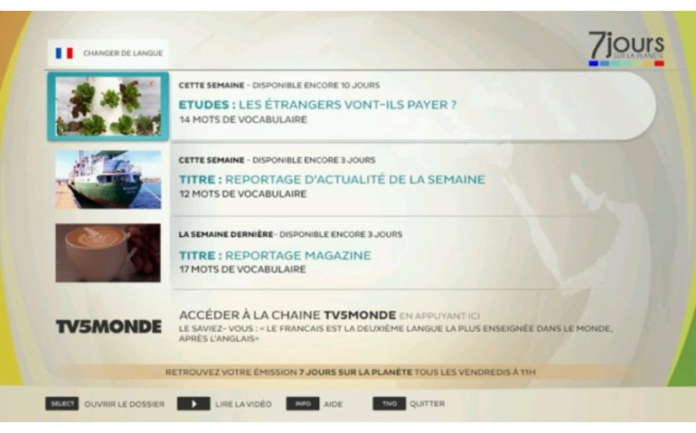 App van TV5 Monde op Ziggo mediabox