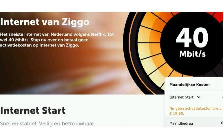 Ziggo speelt meer in op wens internet zonder TV apparatuur