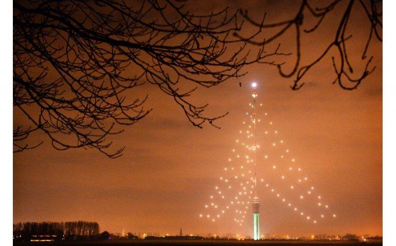 Kerstboom zendmast IJsselstein blijft uit na blikseminslag