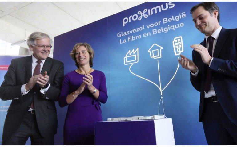 Proximus rolt in Belgische steden wel glasvezel uit