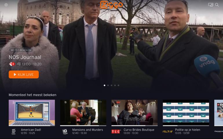 Ziggo onderhandelt met VRT over buitenhuis aanbieden zenders Ziggo GO