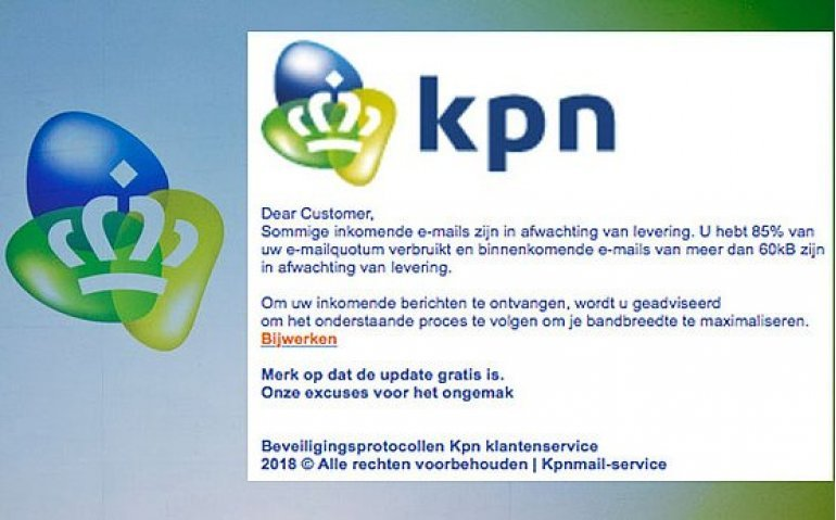 Waarschuwing: Internetcriminelen misbruiken naam KPN
