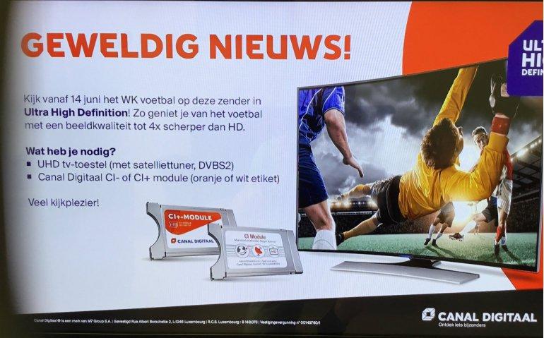 Doorgifte NPO 1 UHD bij Canal Digitaal begonnen