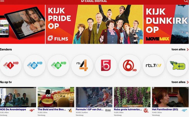 Gebruik Canal Digitaal app voor Live TV stijgt met veertig procent