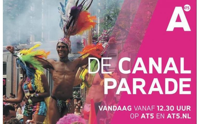 Parade Amsterdam Pride live op NPO 3 extra, OUTtv en AT5