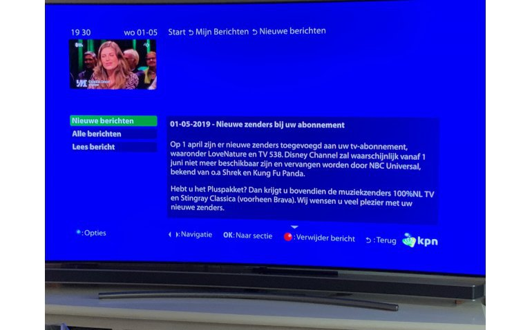 Storing Interactieve TV bij KPN, XS4All en Telfort definitief voorbij