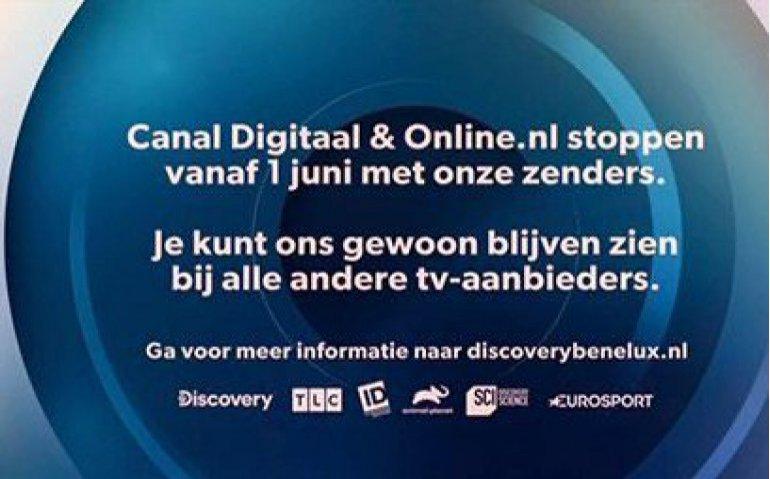 Discovery verdwijnt bij Canal Digitaal en Online.nl