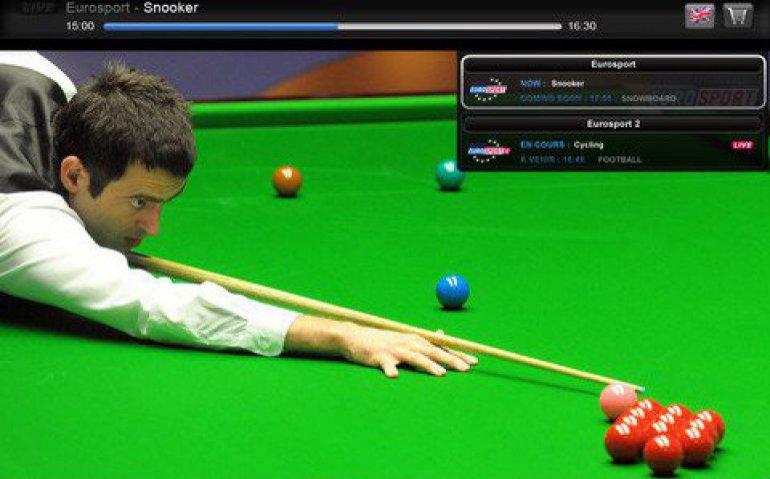 Snooker live op Eurosport