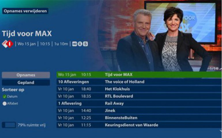 KPN Interactieve TV menu