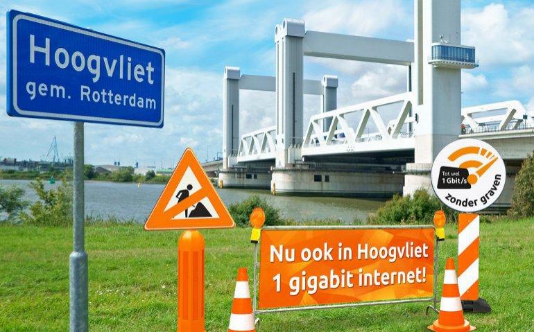 Ziggo Gigabit internet in Hoogvliet