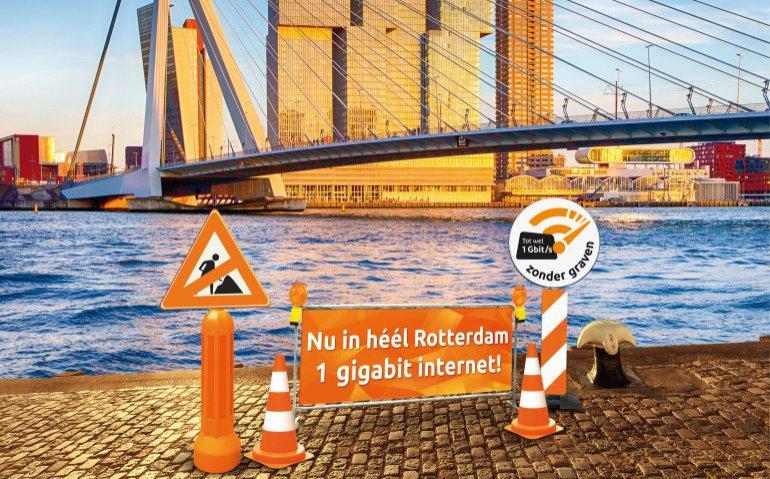 Ziggo zet KPN en T-Mobile in Rotterdam op achterstand met snel internet
