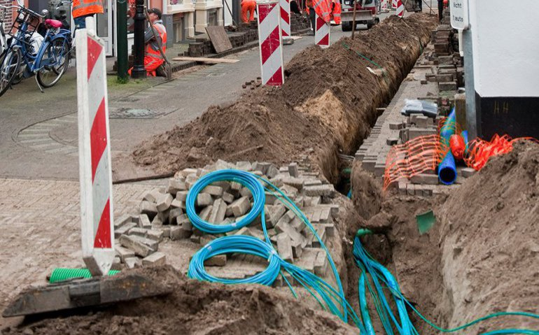 Vertraging aanleg glasvezel in Rotterdam: Ziggo lachende derde
