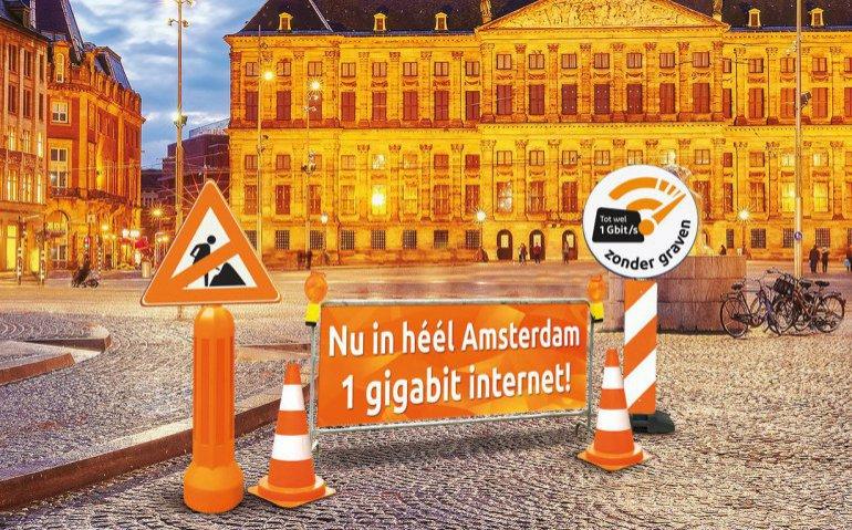 Ziggo gigabit internet per direct in heel Amsterdam