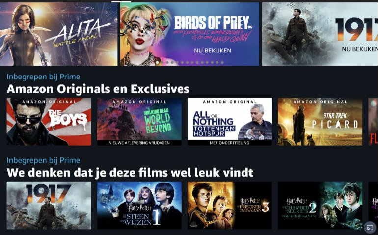 Amazon Prime Video beschikbaar voor meer Nederlanders