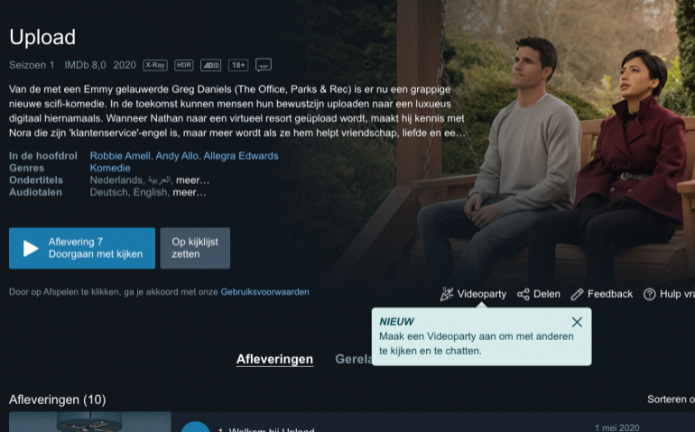 Amazon Prime Video introduceert Videoparty