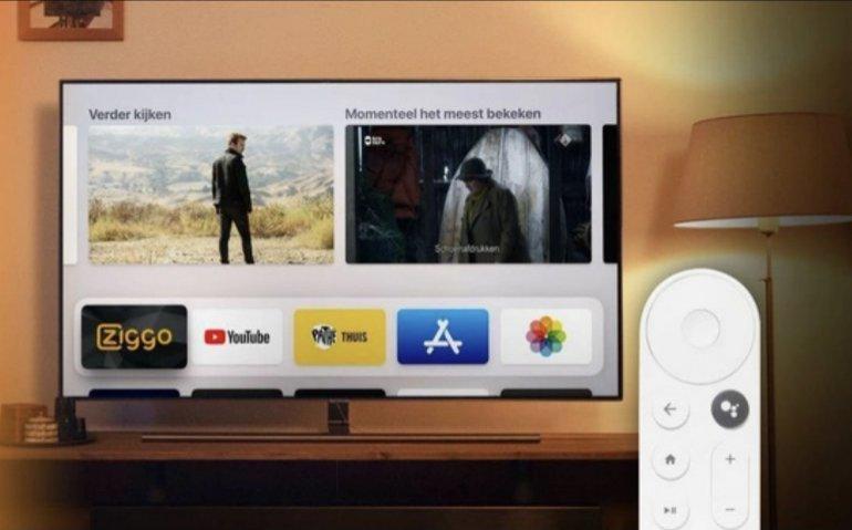 Ziggo verkoopt Chromecast met Google TV als extra kijkoptie