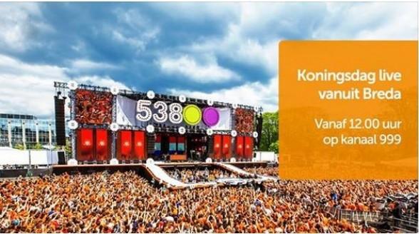 538 Koningsdag live op Ziggo evenementenkanaal