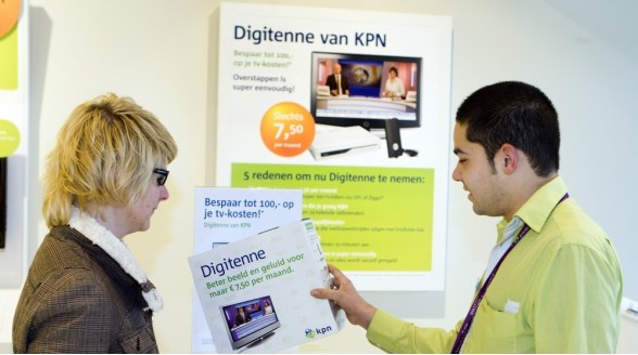 Aanhoudend klantverlies KPN Digitenne