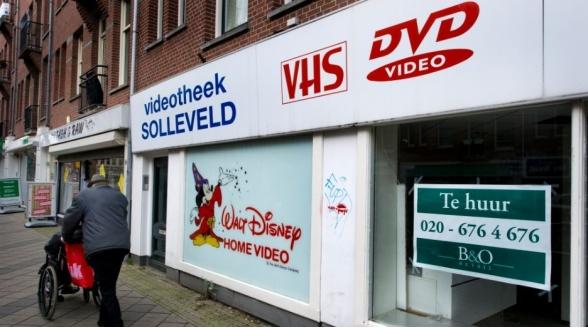 Aantal videotheken is tot onder de 200 gedaald