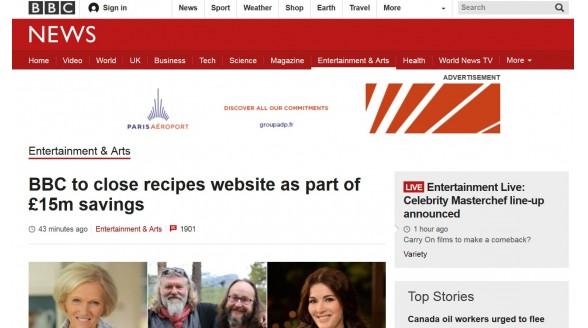BBC news staakt vanwege voorgenomen bezuinigingen