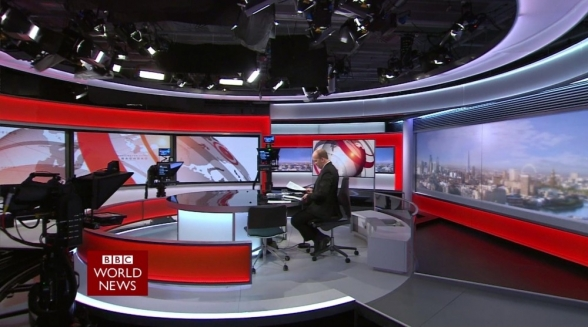 BBC World News HD ongecodeerd op Astra1-satelliet