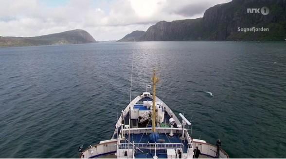 Bootreis door Noorwegen wekenlang live in HD op satelliet