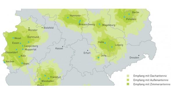 Duitse DVB-T2 in delen Limburg en Gelderland te ontvangen