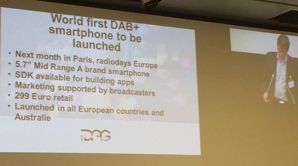 Eerste smartphone met DAB+ op komst