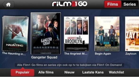 Film1 GO ondersteunt Chromecast