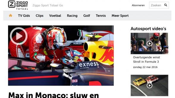 Formule 1 Monaco zeer uitvoerig op sportkanalen Ziggo