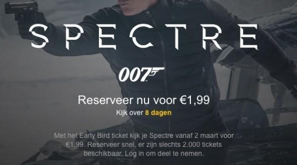 James Bond Spectre voor twee euro bij Pathé Thuis