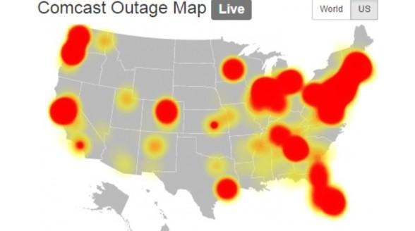 Kabelnet Comcast in Verenigde Staten plat door storing