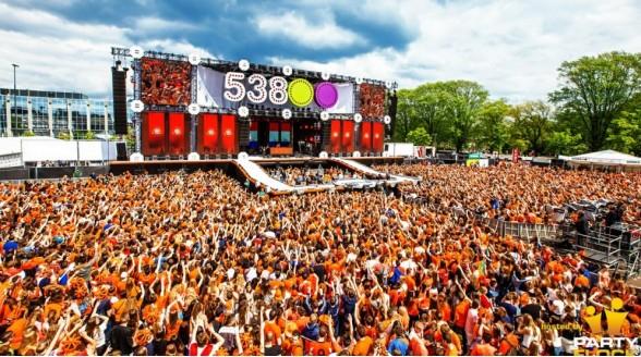 Koningsdagfeesten Radio 538 en SLAM! ook live op tv
