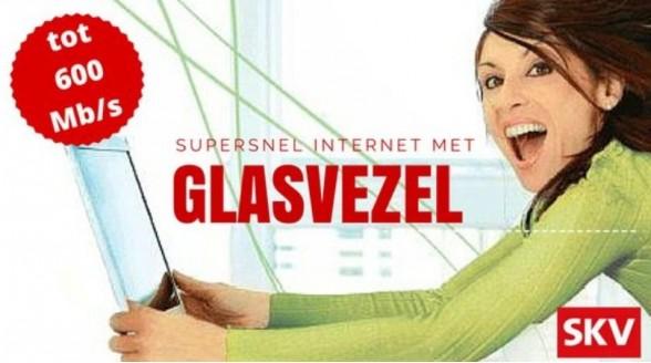Kleine kabelaars voorop met glasvezel en supersnel internet