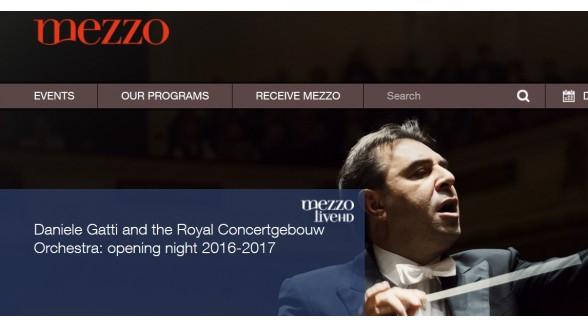 Mezzo TV opent klassiek seizoen vanuit concertgebouw