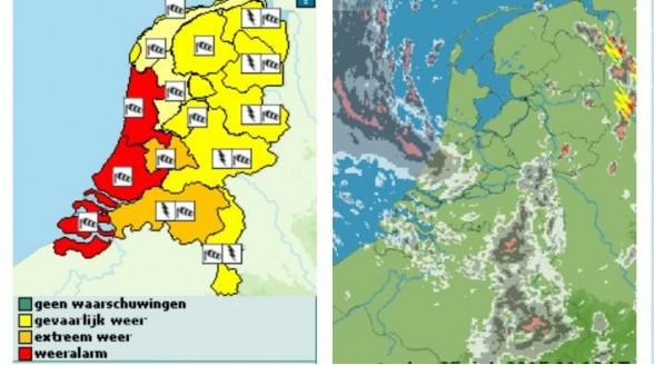 Nederland in de ban van zware storm en code rood