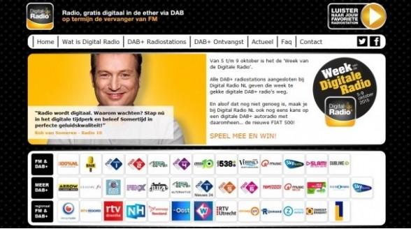 Nieuwe internetsite Digital Radio+ volgende stap uitrol DAB+