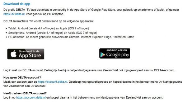 Nieuwe live tv app Zeeuwse Delta landelijk te gebruiken