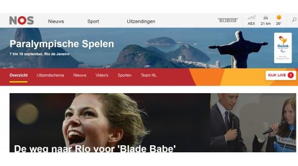 NOS brengt Paralympics alleen live bij Nederlandse finale